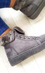 Layla Faux Suede Hi-Top  Platform Boots Thumbnail