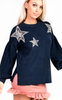 Cheryl Knitted Star Embellished Jumper  Thumbnail