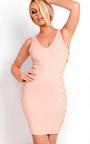 Liviana Lace Up Bodycon Dress Thumbnail