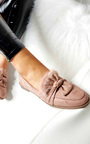 Fifi Suede Faux Fur Bow Pumps Thumbnail