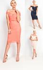 Ophelia Bardot Lace Midi Dress Thumbnail