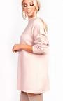 Eva Faux Fur Panel Knitted Dress Thumbnail