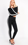 Belle Luxe Bandage Stripe Hooded Tracksuit Thumbnail