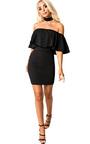 Kassidy Choker Neck Bodycon Dress Thumbnail