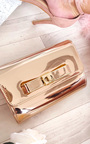 Nadia Metallic Bow Detail Clutch Bag Thumbnail