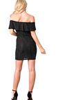 Kensie Shimmer Off Shoulder Bodycon Dress Thumbnail