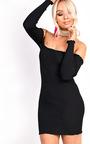 Ruby Ribbed Bardot Dress Thumbnail