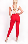Felicity Striped Tie Tailored Trousers Thumbnail