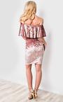 Sienna Off Shoulder Velour Dress Thumbnail
