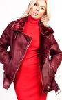 Bella Oversized Faux Shearling Jacket Thumbnail