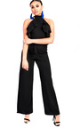Courts Flared Wide Leg Halterneck Jumpsuit Thumbnail
