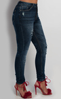 Noxi Distressed Skinny Jeans Thumbnail