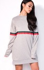 Meghan Striped Sleeve Oversized Jumper Dress Thumbnail