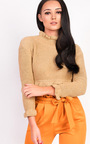 Karolina Knitted Cropped Jumper Thumbnail