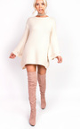 Lilly Flared Beaded Knitted Jumper Thumbnail