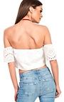 Rezme Bardot Crochet Crop Top Thumbnail