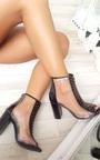 Kadiah Clear Block Heeled Corset Ankle Boots Thumbnail