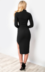 Serena Choker Gathered Bodycon Dress Thumbnail