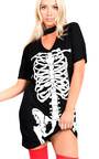 Skeleton Fancy Short Sleeved Dress  Thumbnail