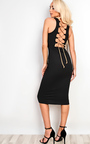 Abrielle Lace Up Midi Dress Thumbnail