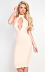 Alya Choker Neck Bodycon Dress Thumbnail