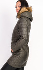 Ella Padded Faux Fur Hooded Belted Jacket Thumbnail