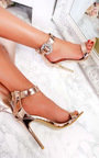 Abel Peep Toe Diamante Brooch Heels  Thumbnail