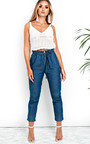 Abel Tie Waist Denim Trousers Thumbnail