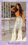 Abi High Waist Snake Print Flare Trousers  Thumbnail