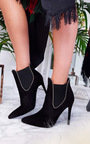 Adrienne Faux Suede Pointed Boots Thumbnail