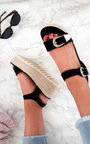 Afia Double Buckle Flatform Sandals Thumbnail