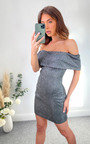 Aida Off Shoulder Sparkle Mini Dress Thumbnail