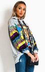 Aikha Sequin Embellished Oversized Hooded Jumper Thumbnail
