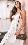 Aimee Button Up Tie Midi Dress Thumbnail