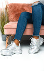 Aimee Holographic Sequin Chunky Trainers Thumbnail