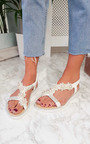 Ains Iridescent Pearl Embellished Sandals Thumbnail