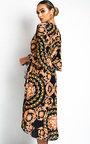 Aisleen Printed Wrap Midi Dress Thumbnail