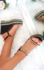 Alaia Studded Braided Strap Wedges Thumbnail