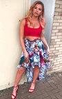 Alanis Chiffon Frill Floral Skirt Thumbnail