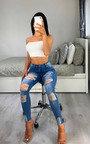 Alannah Distressed Skinny Jeans Thumbnail