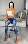 Alannah Distressed Skinny Jeans Thumbnail