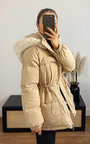 Alba Padded Hooded Faux Fur Coat Thumbnail