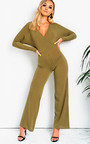 Albany Ribbed Wide Leg Jumpsuit Thumbnail