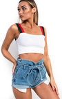 Aleah Ribbed Crop Top  Thumbnail