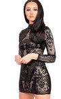 Alesha Sequin Long Sleeved Dress Thumbnail