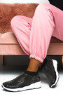 Alexa Diamante Embellished Sock Trainers Thumbnail