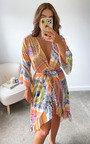 Alexia Printed Midi Dress Thumbnail