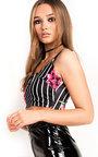 Aliya Floral Striped Crop Top Thumbnail