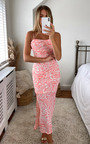 Aliyah Printed Midi Dress Thumbnail