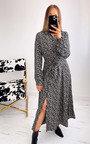 Ally Button Down Printed Maxi Dress Thumbnail